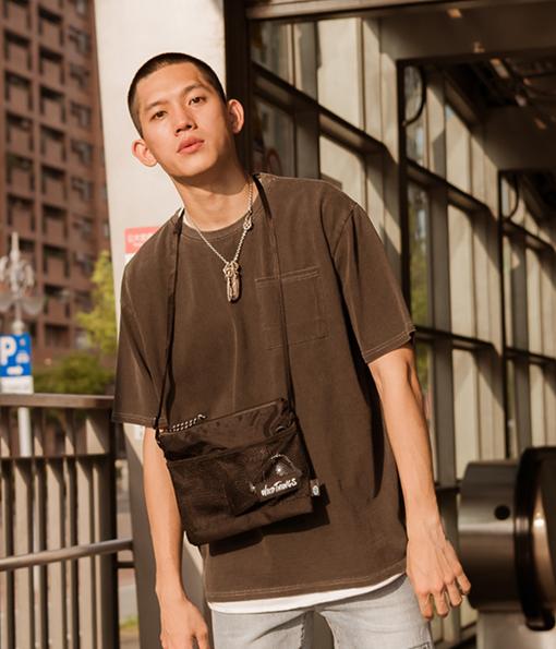 韓國秋季質感水洗後棉剪裁上衣