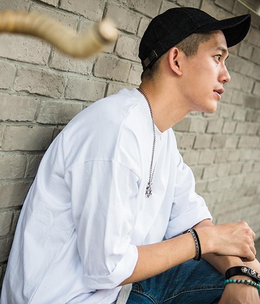 韓國重磅多色街頭感五分袖短TEE 黑/白/藍/駝/綠/灰 (現貨+預購)