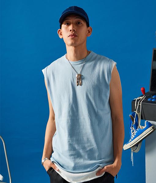 韓國夏季厚棉質感風格剪裁背心