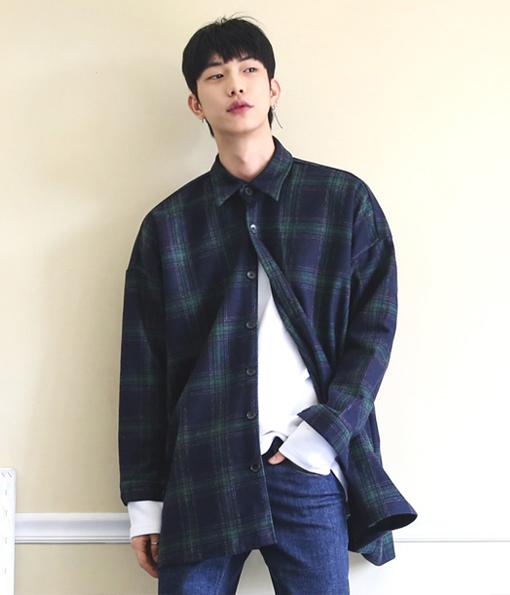 韓國冬季LOOSEFIT質感百搭襯衫外套