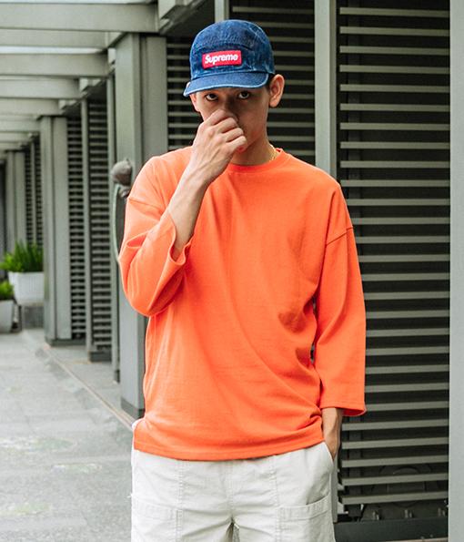 韓國夏季質感風格剪裁七分袖上衣