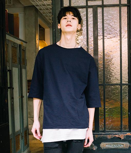 韓國修身簡約好感剪裁上衣