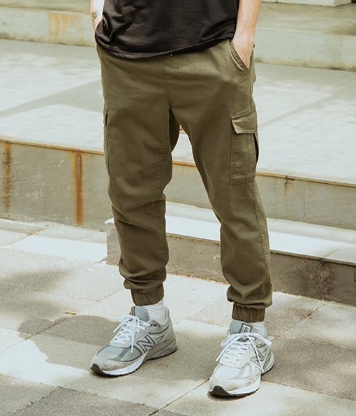 韓國質感彈性腰頭工作褲