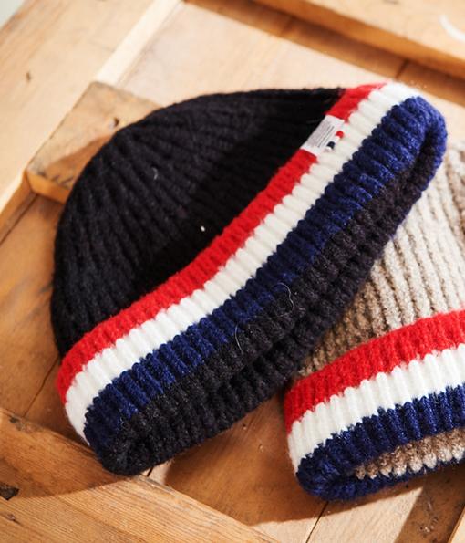 韓國嚴選街頭質感配色毛帽