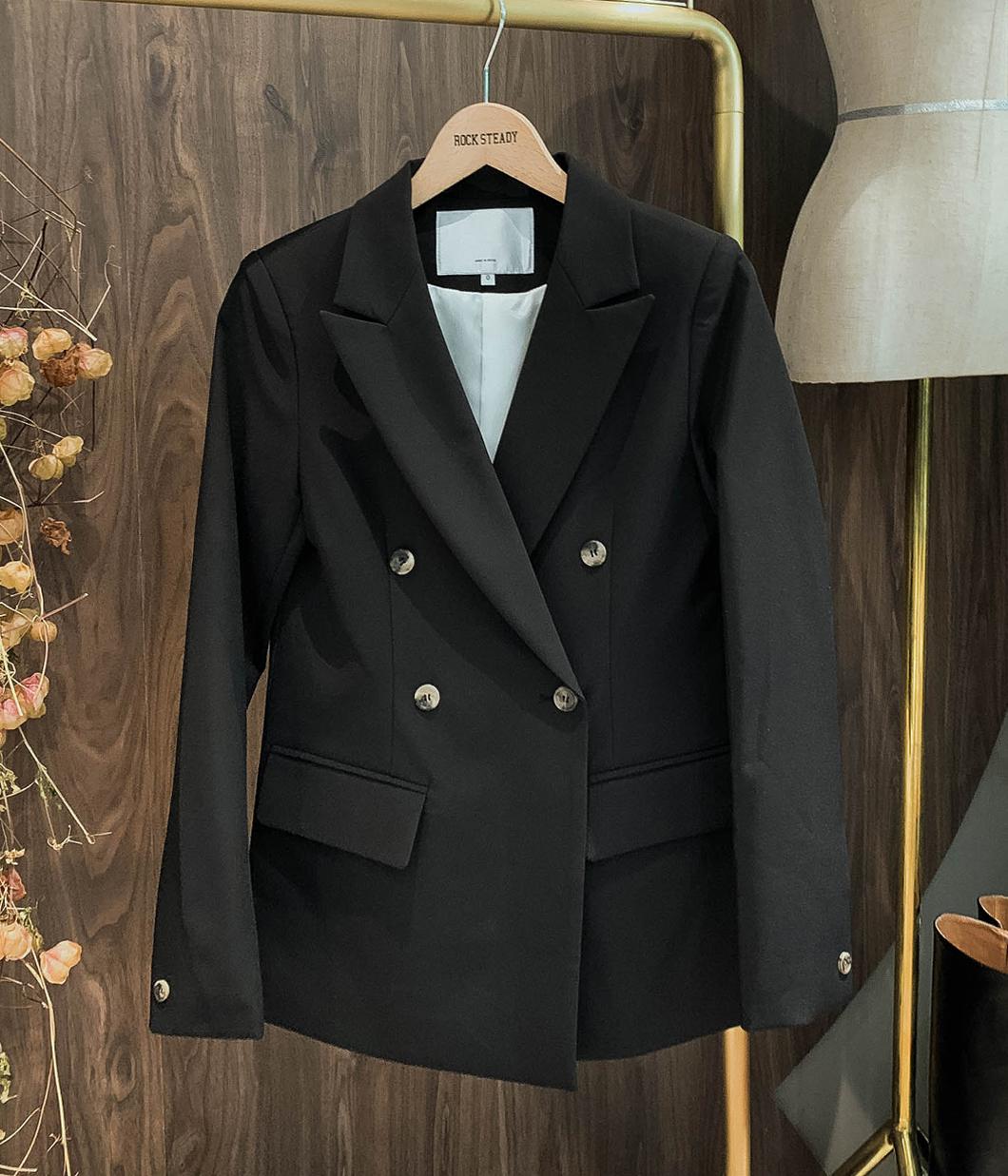 知性立挺雙排釦西裝外套