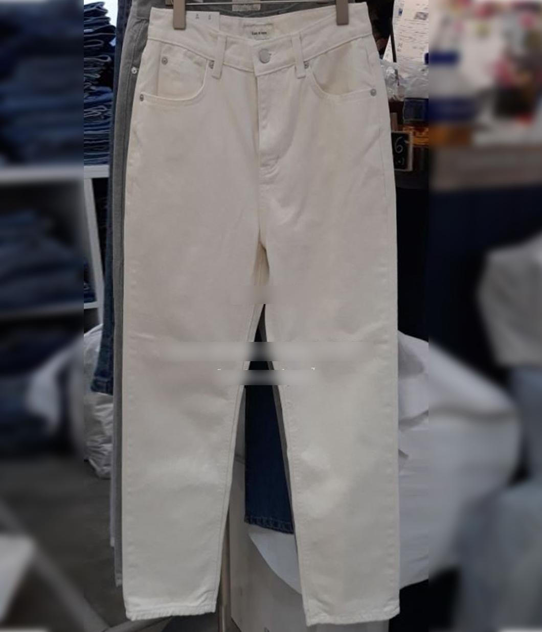 修身單品純白牛仔褲