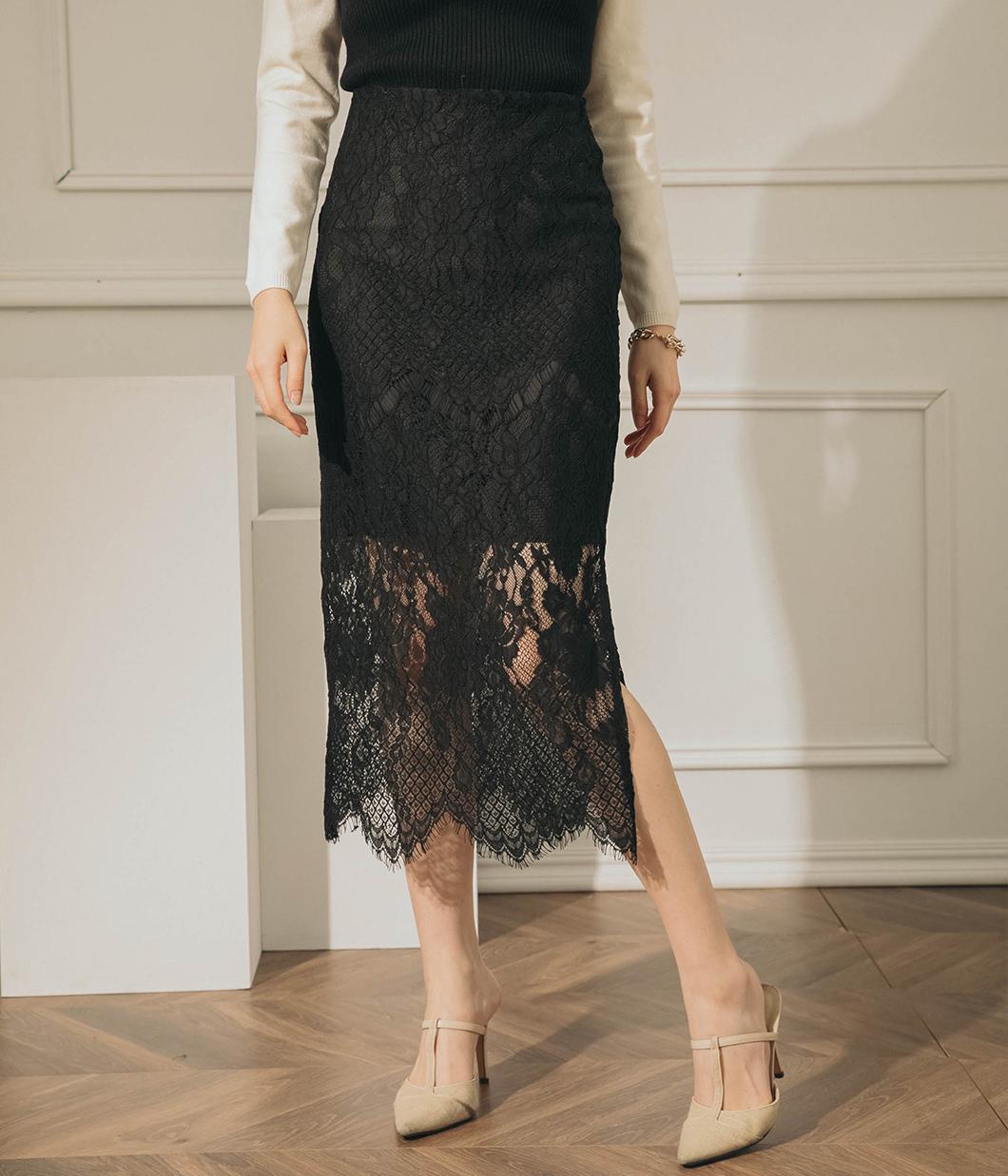 浪漫女孩蕾絲窄裙