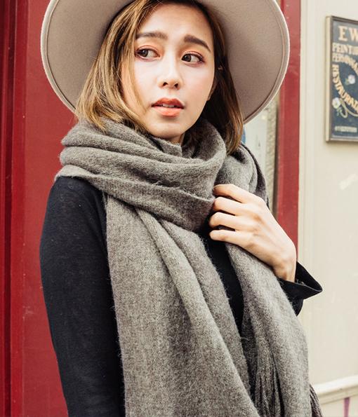 暖軟親膚仿羊絨圍巾