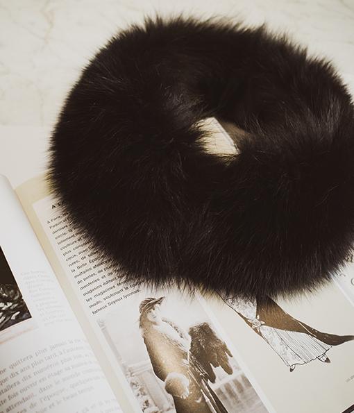 蓬鬆保暖磁釦式毛毛圍脖