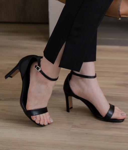 激推款一字帶涼鞋式高跟鞋(無到付服務)