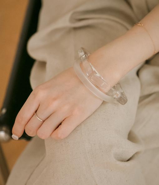 透明感幾何圖形手環