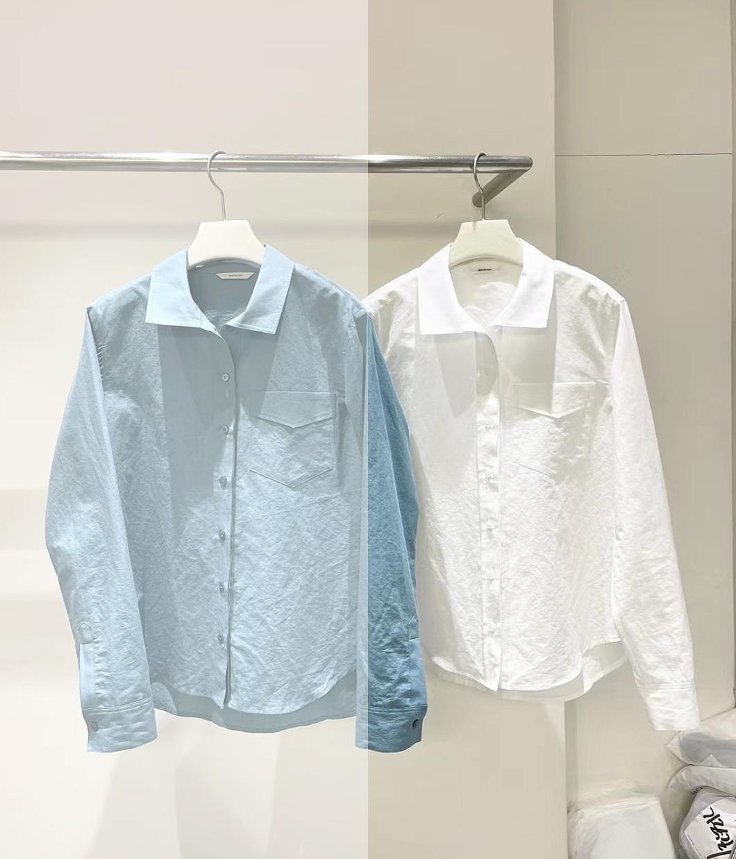 極簡系質感純色襯衫