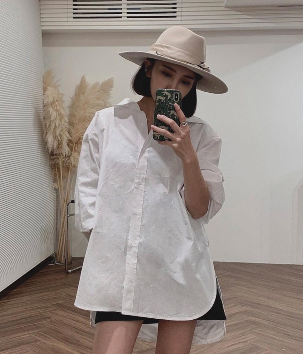 37.衣櫃首選!側開衩挺料白襯衫