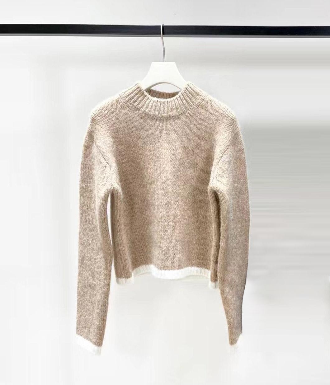 54.短髮歐膩的溫暖拚色毛衣