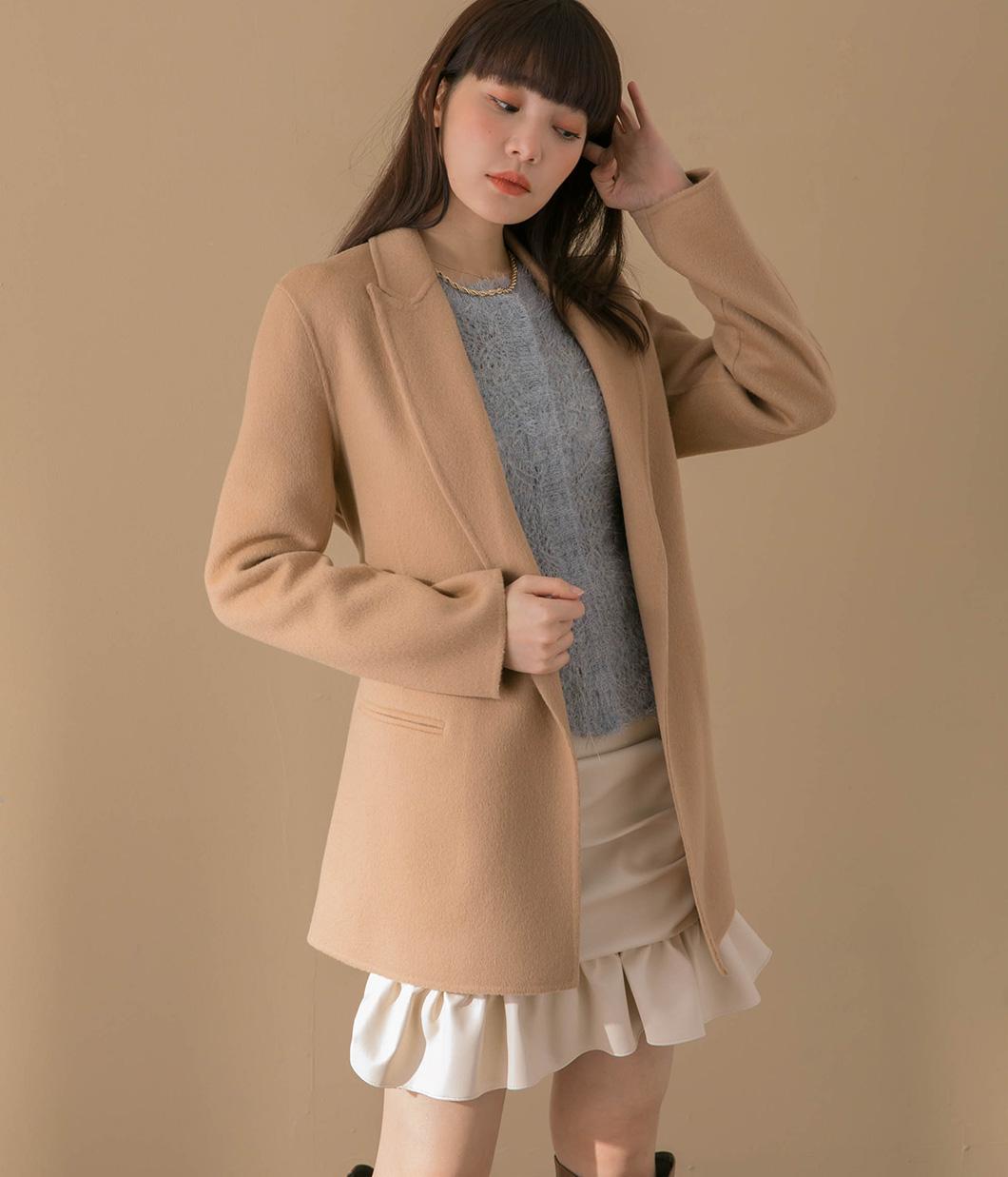 經典版型90%羊毛西裝外套(附綁帶)