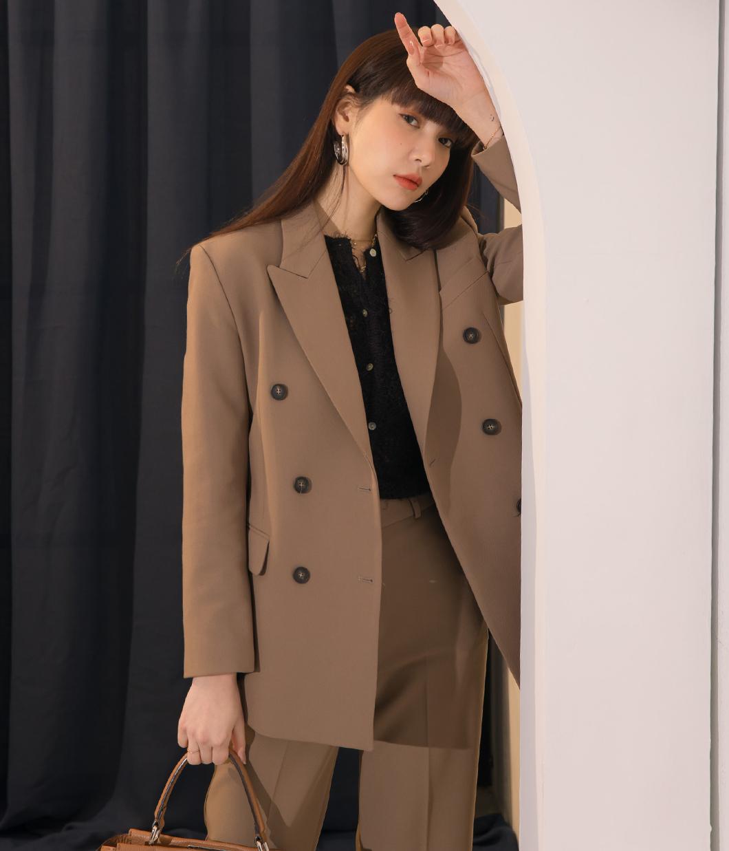 7.高質感雙排扣西裝外套