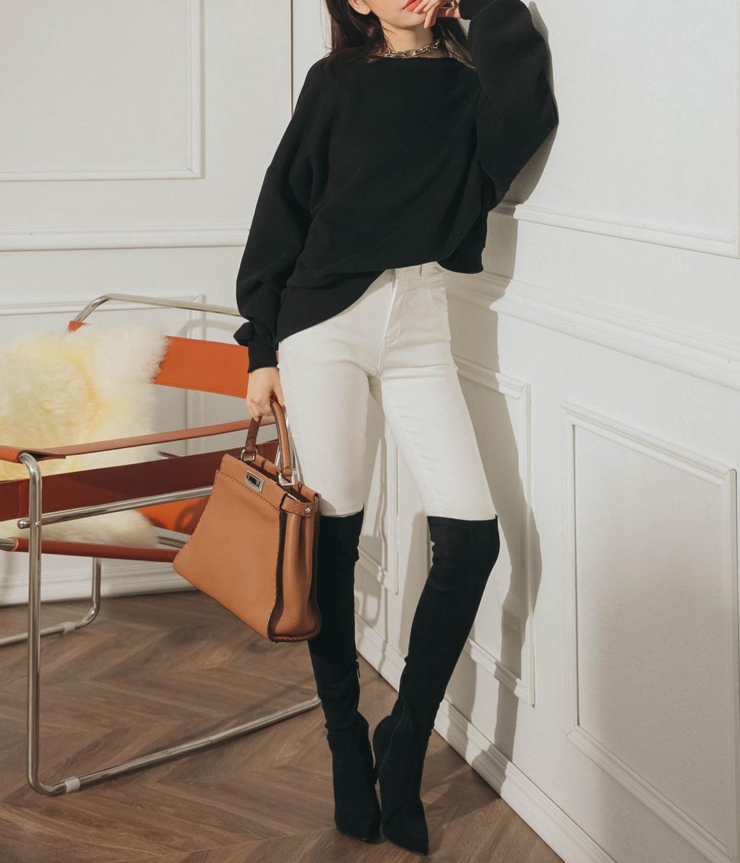 激瘦單品素色合身長褲