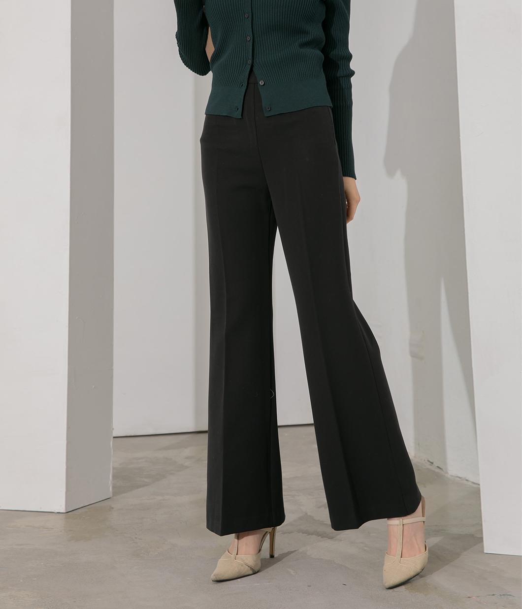 修身版型側釦靴型西裝褲