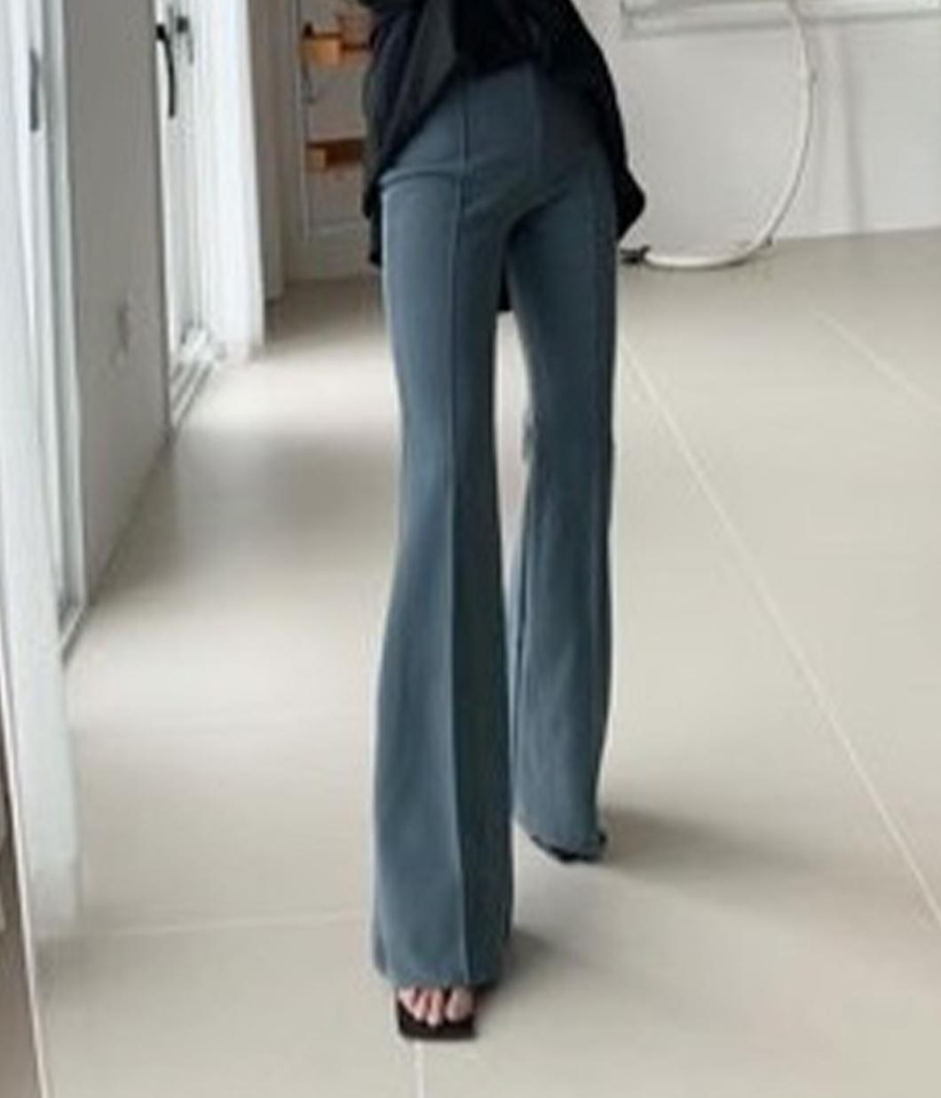 84.立體壓線靴型彈性長褲
