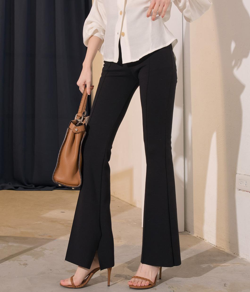 28.激瘦版型立體壓線靴型長褲