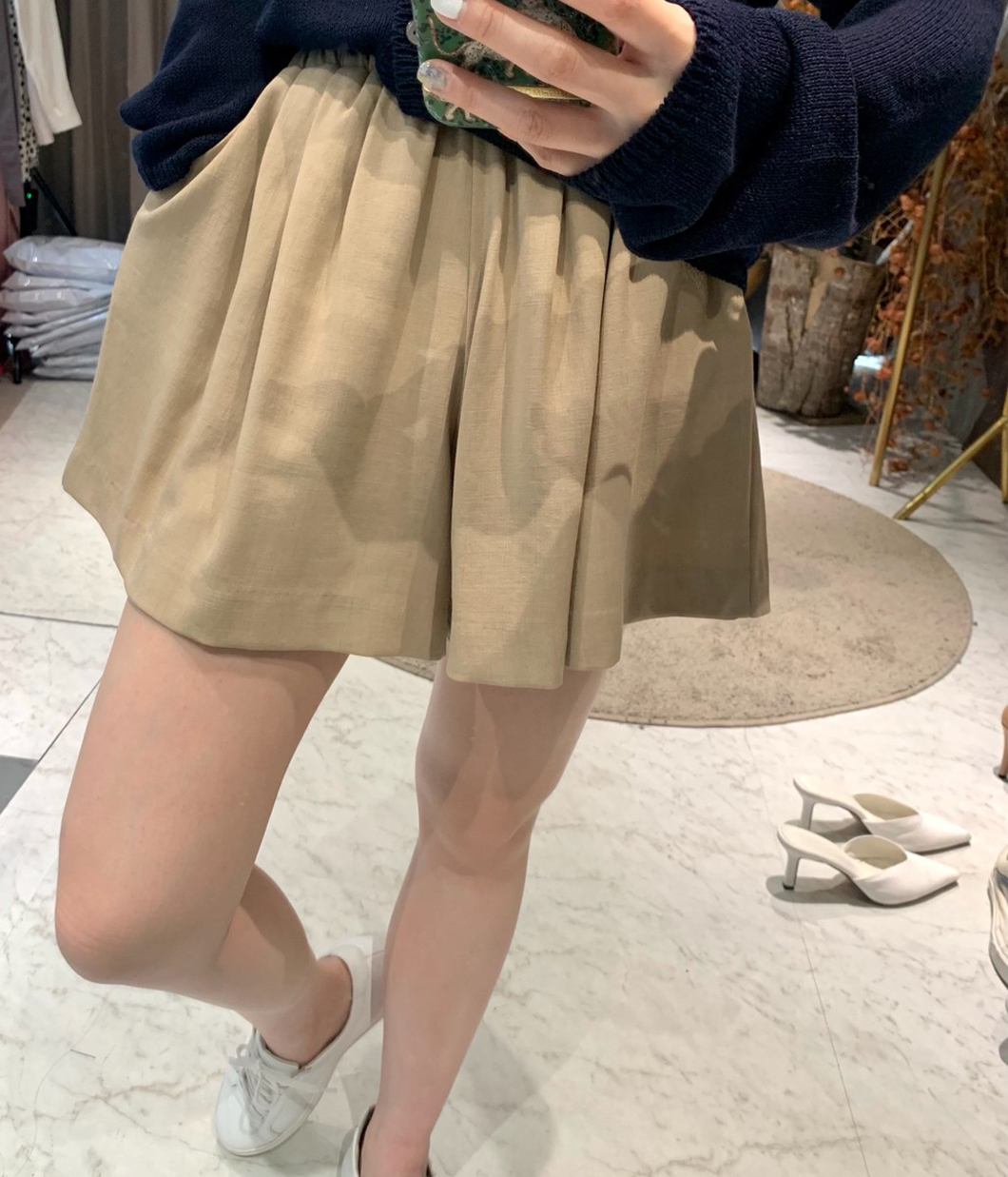 活力漾感棉麻短褲