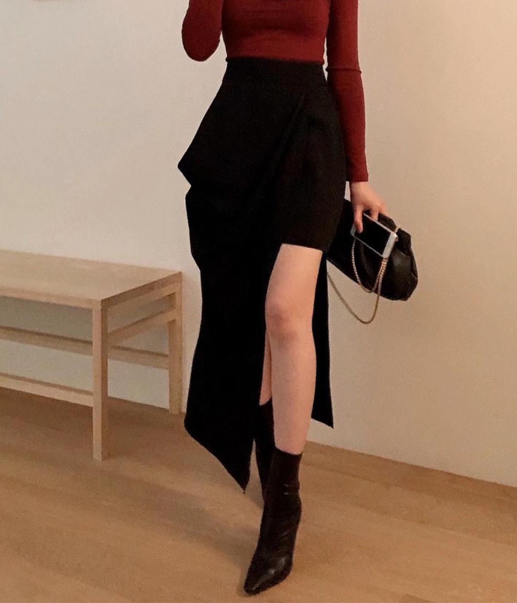 57.性感不對稱裙襬設計長裙
