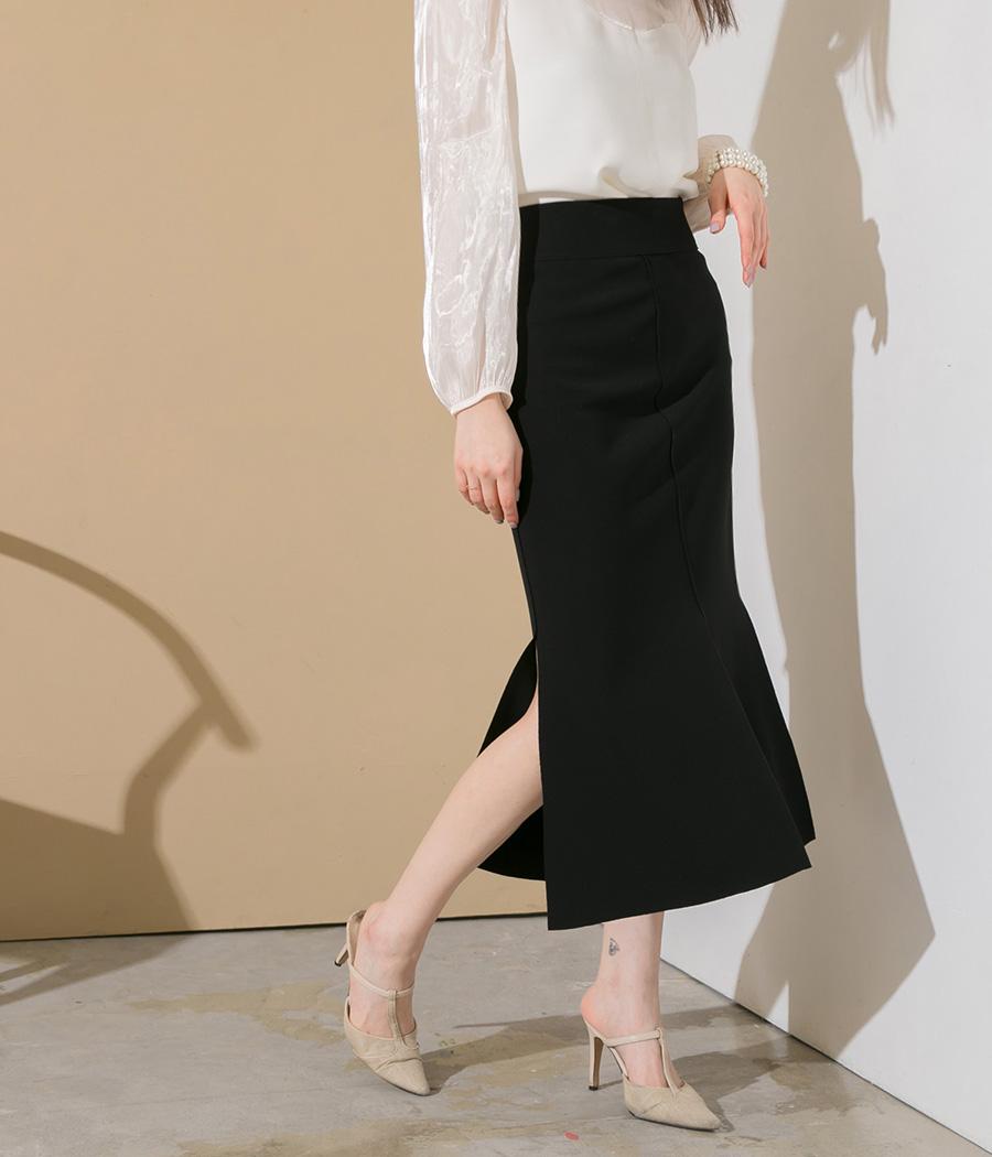 8.完美曲線開岔包臀裙