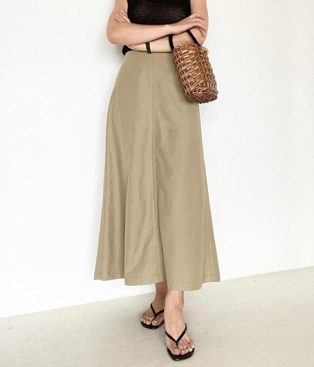 優雅知性直腿修飾長裙