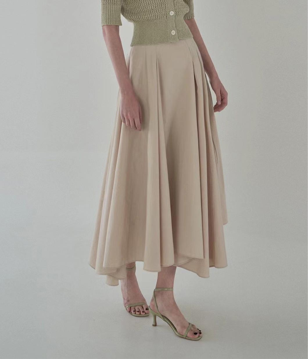 不對稱法式浪漫傘擺裙