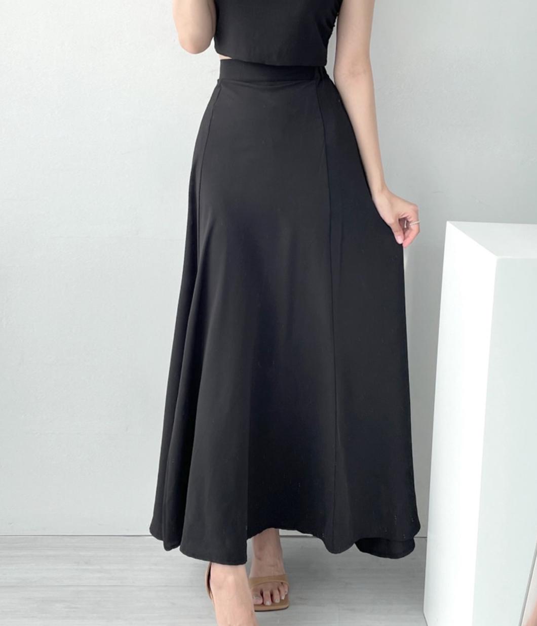 好氣質優雅的傘狀長裙