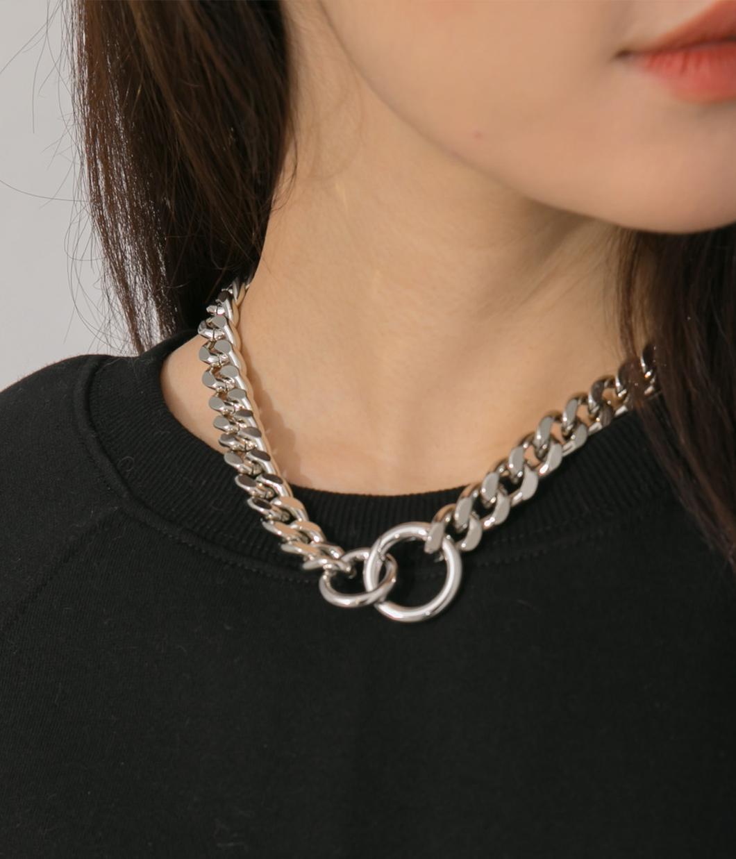 歐美風釦環式項鍊