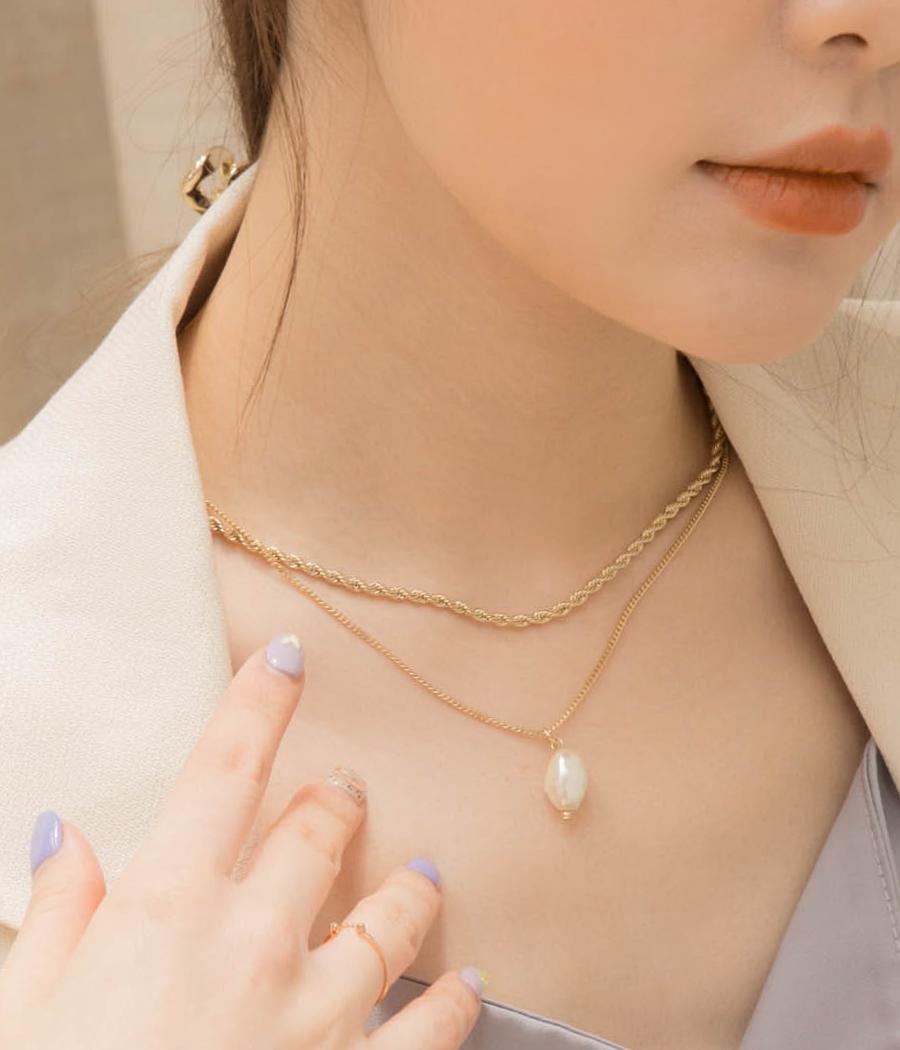 夏日微甜珍珠項鍊