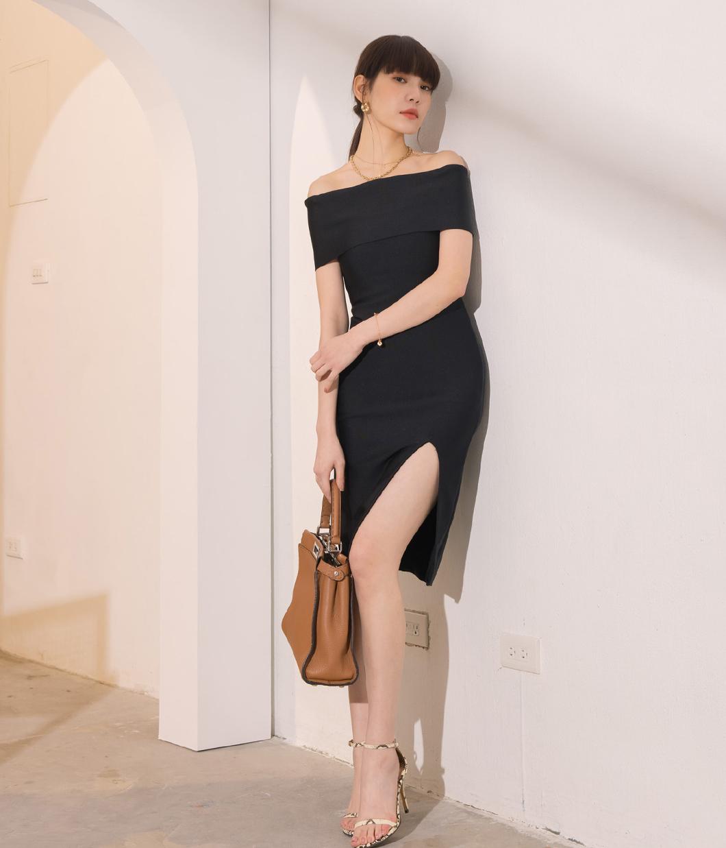 6.好身材平口彈性短洋裝