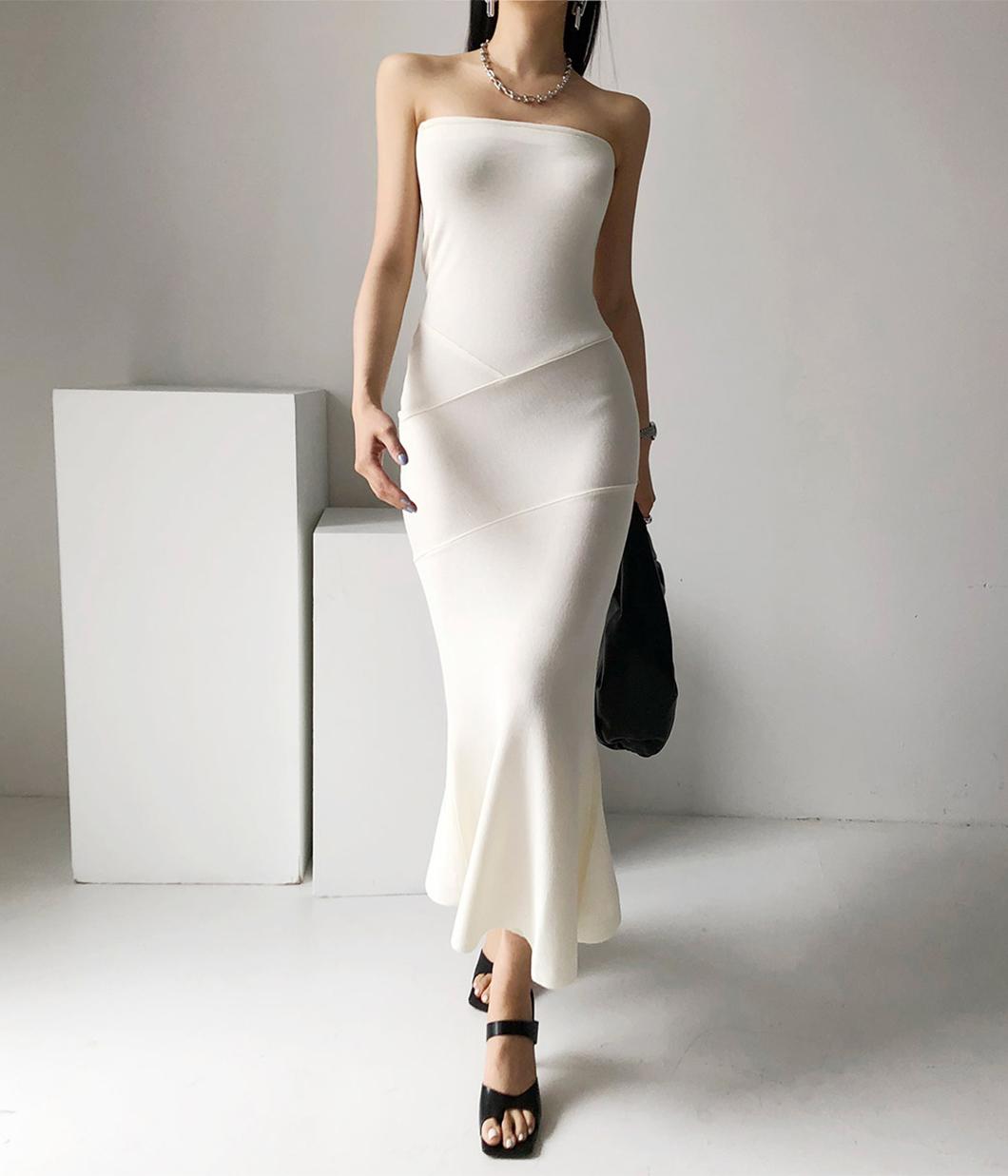 76.歐美高質感平口洋裝