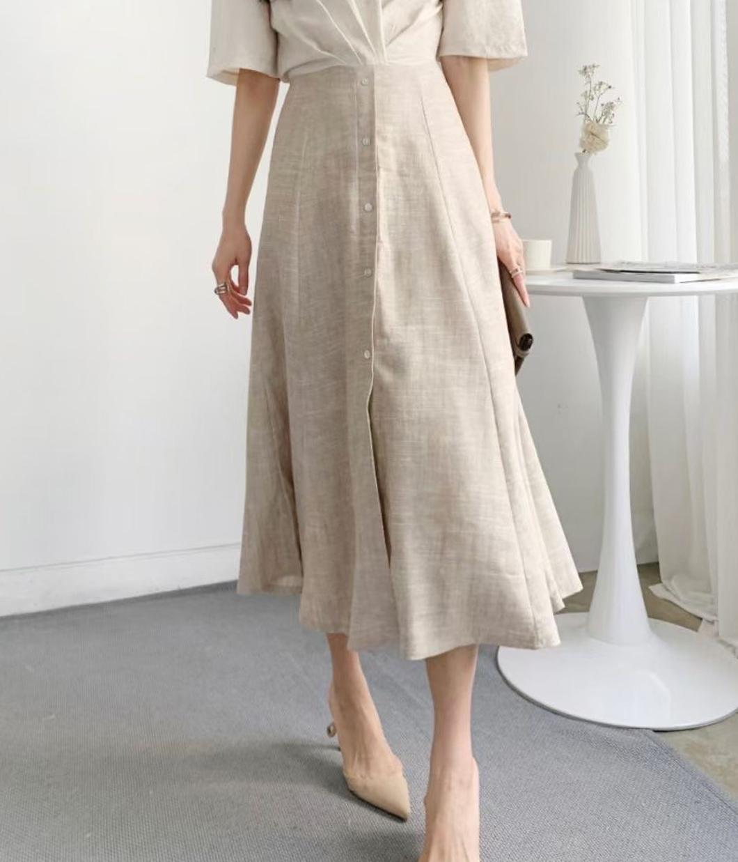 9.溫柔高雅雙色襯衫洋裝
