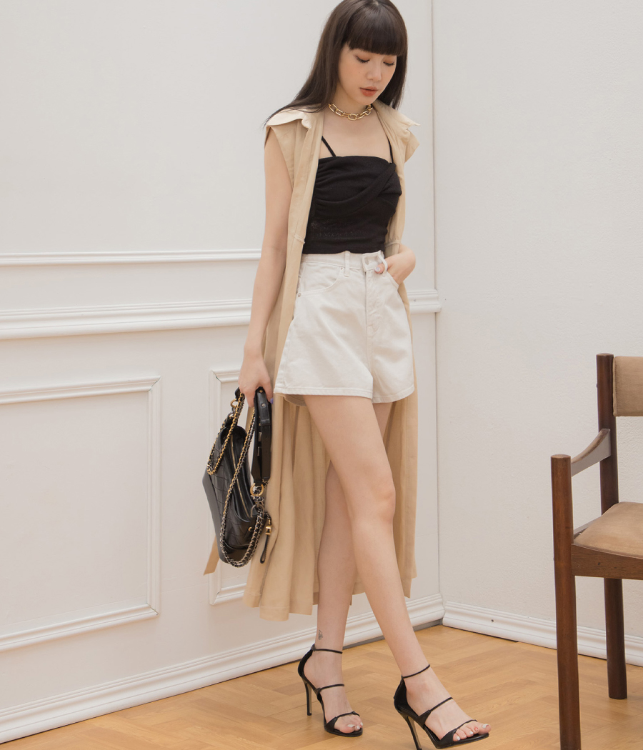 典雅風尚小包袖洋裝