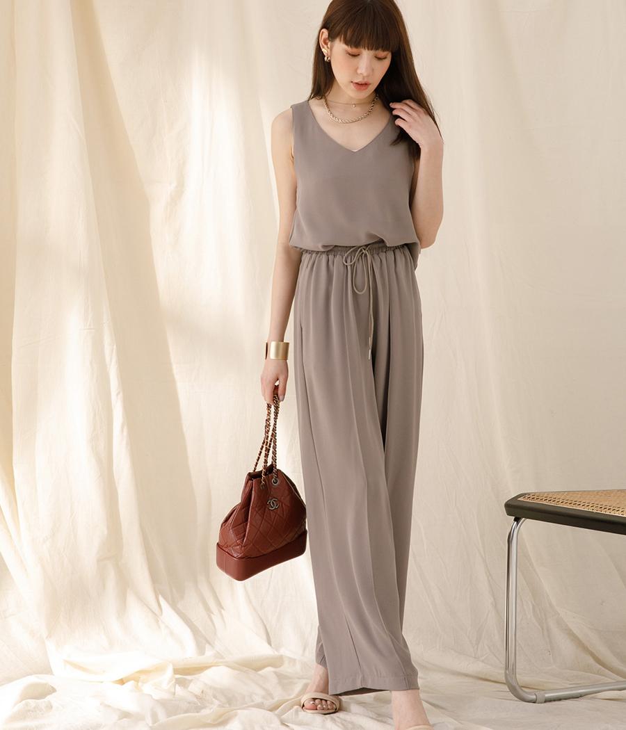 2.慵懶時尚自訂套裝(背心+寬褲SET)