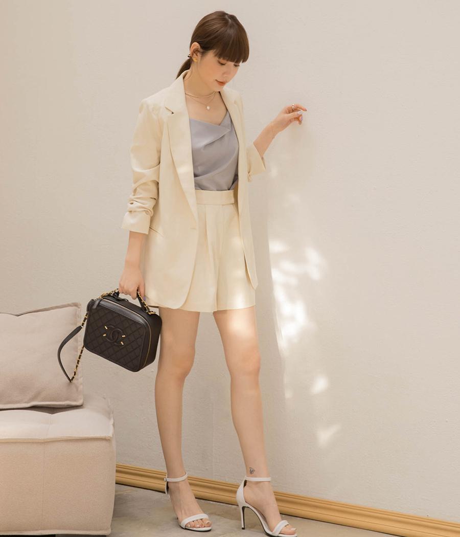 都會時髦西裝外套+短褲套裝