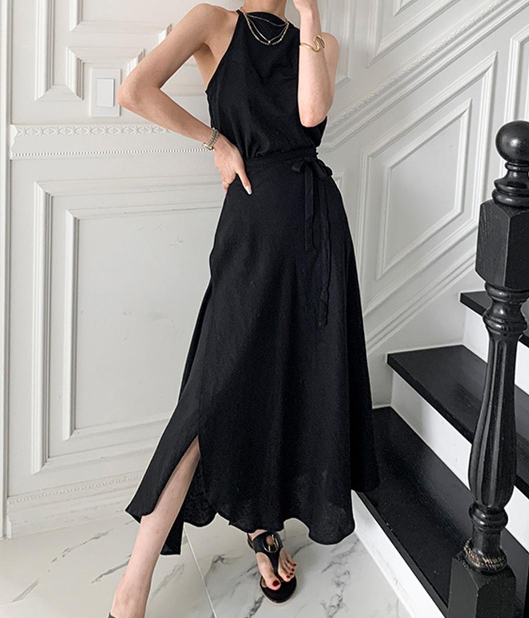 2.你是焦點的時髦背心+質感長裙套裝
